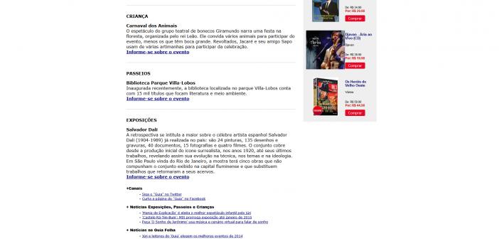 Guia Folha - Passeios - Bom e barato- veja eventos grátis para o primeiro fim de semana de 2015 - 03-01-2015 2015-01-13 16-48-57