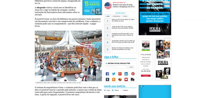 Nova biblioteca incentiva conexão entre natureza e livros em SP - 11-01-2015 - sãopaulo - Folha de S.Paulo 2015-01-13 16-46-47