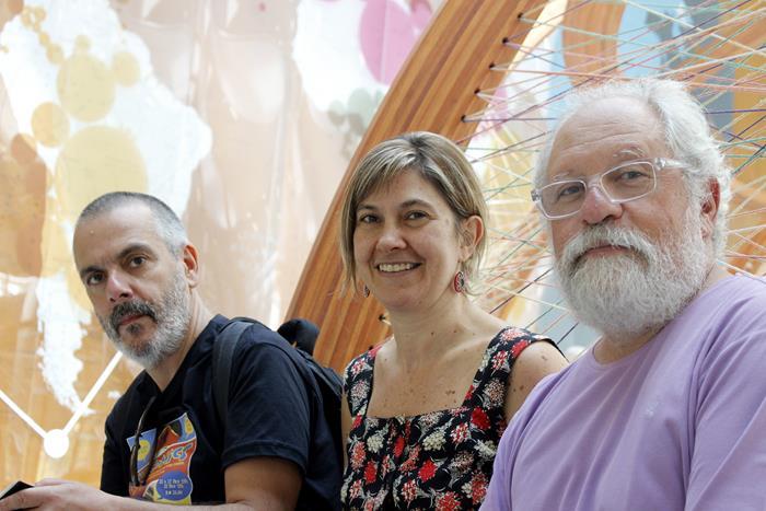 Da esq. para dir.: Eloar Guazzelli, Silvia Zatz e Michel Gorski.