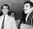 Vargas Llos (à esq.) e García Marquez, em Barcelona.